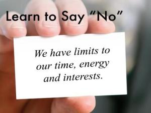"Learn to Say Nod49d - Don't Be Afraid to Say ""No"" to Your Boss"